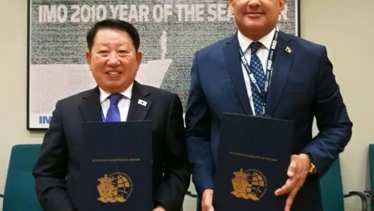 LA AUTORIDAD MARÍTIMA DE PANAMÁ FIRMA ACUERDO CON KOREAN REGISTER OF SHIPPING